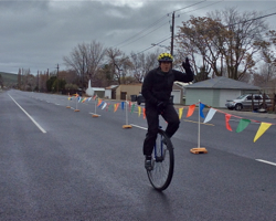 2015 Gran Fondo Ephrata Unicycle Finish