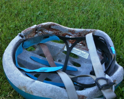 helmet after crash