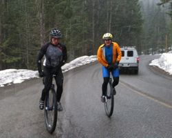 riding up Mt Baker Hwy